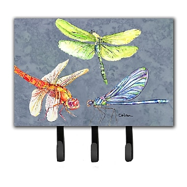 Caroline's Treasures Dragonfly Times Three Leash Holder and Key Hook