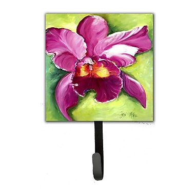 Caroline's Treasures Orchid Leash Holder and Wall Hook