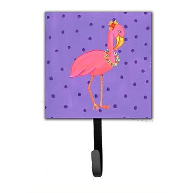 Caroline's Treasures Flamingo Leash Holder and Wall Hook