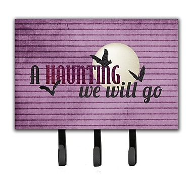Caroline's Treasures A Haunting We Will Go Halloween Leash Holder and Key Hook
