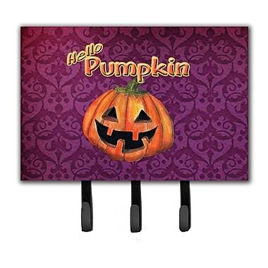 Caroline's Treasures Hello Pumpkin Halloween Leash Holder and Key Hook