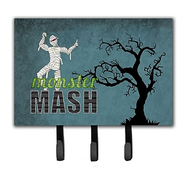 Caroline's Treasures Monster Mash w/ Mummy Halloween Leash Holder and Key Holder