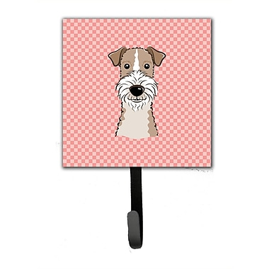 Caroline's Treasures Checkerboard Wire Hai Fox Terrier Leash Holder and Wall Hook