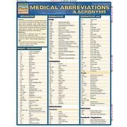 BarCharts, Inc. QuickStudy® Medical Abbreviations Flashcard & Reference Set (9781423230649)