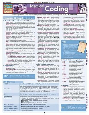BarCharts, Inc. QuickStudy® Medical Coding Reference Set (9781423230366)