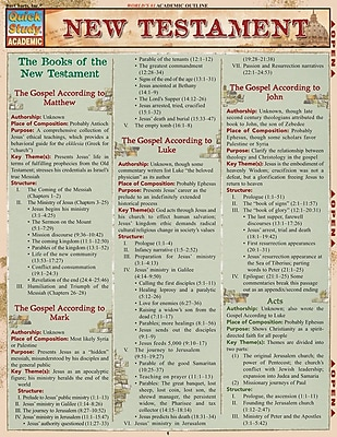 BarCharts, Inc. - QuickStudy Religious Reference Set 1932919