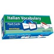 BarCharts, Inc. - QuickStudy® Italian Flashcard & Reference Set