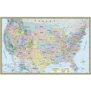 BarCharts, Inc. - QuickStudy® World & US Map Set - Paper