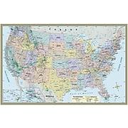 """QuickStudy World/US Maps, 50"""" x 32"""", 2/Pack (9781423230700)"""