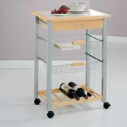 OIA Organize It All Kitchen Cart w/ Tile Top