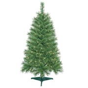 Jeco Inc. 4' Green Artificial Christmas Tree w/ 150 Clear Lights and Stand