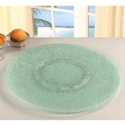 Chintaly Sandwich Glass Lazy Susan; Clear