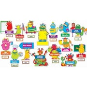 Teachers Friend 5 Piece Monsters At Work Grade Bulletin Board Cut Out Set
