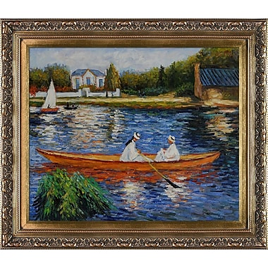 Tori Home Boating on the Seine by Pierre-Auguste Renoir Framed painting