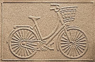 Bungalow Flooring Aqua Shield Nantucket Bicycle Doormat; Camel