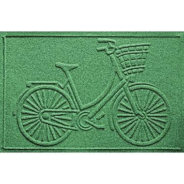 Bungalow Flooring Aqua Shield Nantucket Bicycle Doormat; Light Green