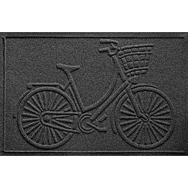 Bungalow Flooring Aqua Shield Nantucket Bicycle Doormat; Charcoal