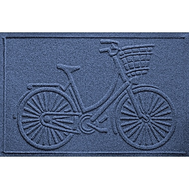 Bungalow Flooring Aqua Shield Nantucket Bicycle Doormat; Navy