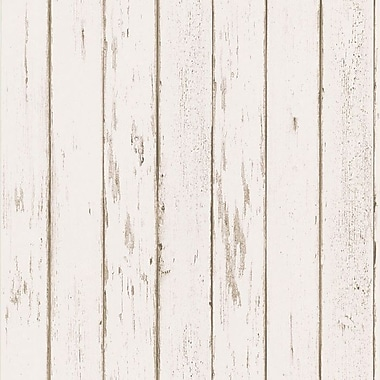 Brewster Home Fashions Northwoods Distressed Plank Wallpaper
