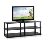 Furinno Furinno Turn-S-Tube 42'' TV Stand; Espresso / Black