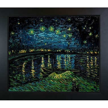 Wildon Home Starry Night over the Rhone by Vincent Van Gogh Framed Painting