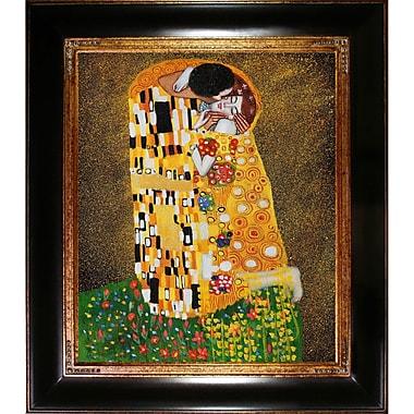 Wildon Home The Kiss (Fullview) by Gustav Klimt Framed Painting