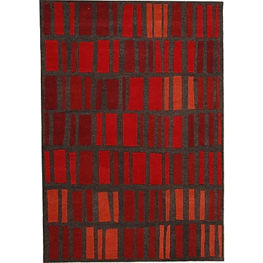 Dynamic Rugs Odyssey Red Stripe Rug; Rectangle 8' x 11'