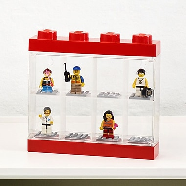 LEGO by Room Copenhagen Mini figure Display Case for 8; Red