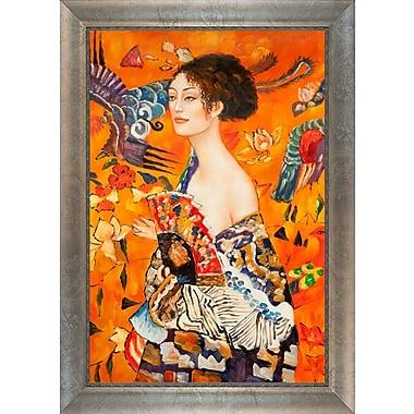 Tori Home 'Con Ventaglio' Interpretation by Gustav Klimt Framed Painting on Canvas
