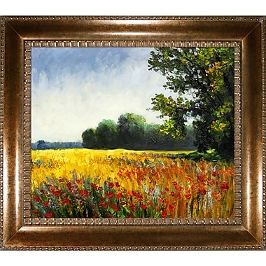 Tori Home Oat Fields by Claude Monet Framed Painting