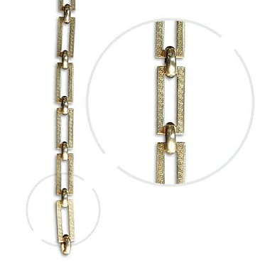 RCH Supply Company Rectangle Un-Welded Link Solid Brass Chain; Polished Brass
