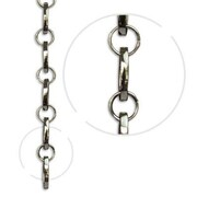 RCH Supply Company Oval Un-Welded Link Solid Brass Chain; Polished Nickel
