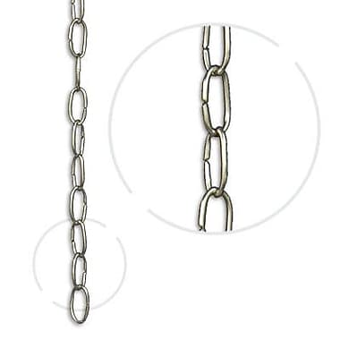 RCH Supply Company Oval Link Un-Welded Brass Wire Chain; Matte Silver