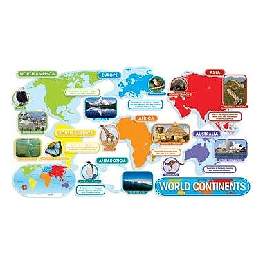 Teachers Friend World Continents Bulletin Board Cut Out
