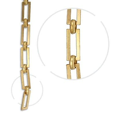 RCH Supply Company Rectangle Square Edge Un-Welded Link Solid Brass Chain