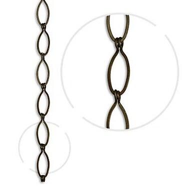 RCH Supply Company Sleek Oval Un-Welded Chain; Antique Brass