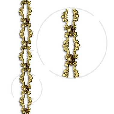 RCH Supply Company Motif Welded Link Solid Brass Chain; Acid Dipped