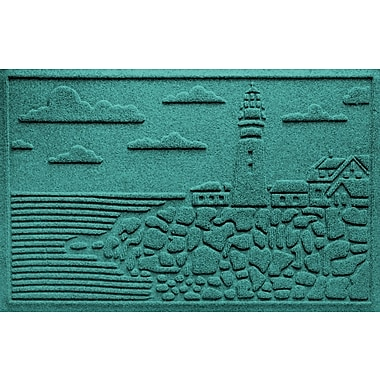 Bungalow Flooring Aqua Shield Lighthouse Cove Doormat; Aquamarine