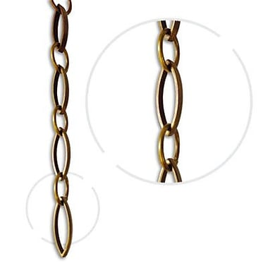 RCH Supply Company Oval Un-Welded Link Solid Brass Chain; Antique Brass