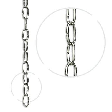 RCH Supply Company Oval Link Un-Welded Brass Wire Chain; Polished Silver