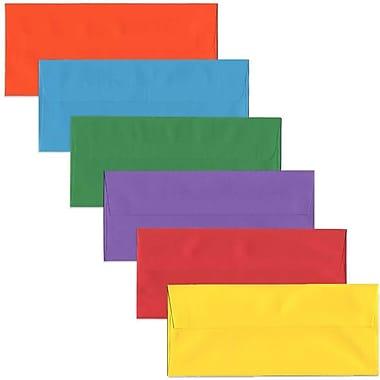JAM Paper - Enveloppes commerciales no 10, 4 1/8 x 9,5 po, couleurs vives variées, 150/paquet (1586ASSRTD)