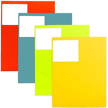 JAM Paper® Mailing Address Labels, 3 1/3 x 4, Assorted Colours, 4 packs of 120, 480/set (30272ASST34)