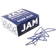 JAM Paper® Butterfly Paper Clips, Dark Blue Paperclips, 15/pack (332BYBU)