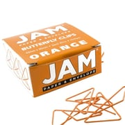 JAM Paper® Butterfly Paper Clips, Orange Paperclips, 15/pack (332BYOR)