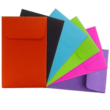 JAM Paper® #1 Coin Envelopes, 2.25 x 3.5, Brite Hue Assorted, Sold Individually (3523ASSRTD)