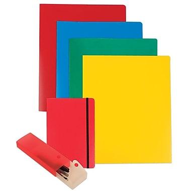 JAM Paper® Back To School Assortments, Red Homework Pack, 4 Heavy Duty Folders, 1 Journal, 1 Pencil Case, 6/Pack (383HWRASSRT)