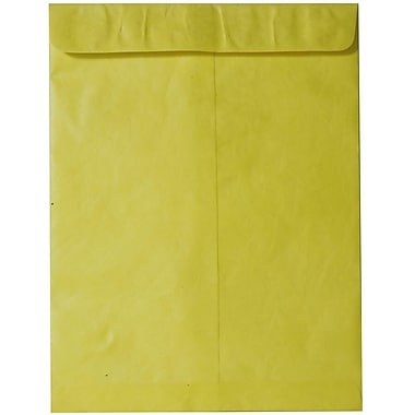 JAM Paper® 10 x 13 Tyvek Envelopes, Catalog Open End with Self Adhesive Closure, Yellow, 10/pack (V021385B)