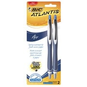 BIC Atlantis® AIR™ Retractable Pens, Blue, 2/Pack