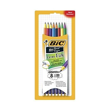 BIC® Xtra Fun™ Graphite HB#2 Pencils, 8/Pack