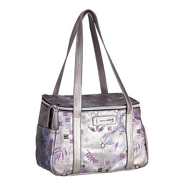 Simon Chang Faux Leather Ladies Satchel Cooler Bag, Silver